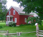 Modern photo by author Kathleen Ernst of the farm near Malone, New York, where Almanzo Wilder, husband of Laura Ingalls Wilder, grew up.