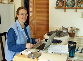 kathleen ernst, sophie the cat, writing, undisclosed location