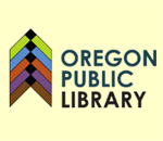 The Oregon Wisconsin Public Library logo.