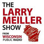 Logo of the Larry Meiller Show on Wisconsin Public Radio.