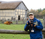 Photographer Loyd Heath at Old World Wisconsin.