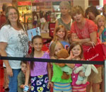 Photo of visitors waiting to meet author Kathleen Ernst at the American Girl store in Dallas TX.
