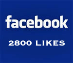 Graphic stating Facebook 2800 Likes.