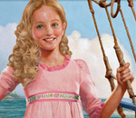 Color image of upper part of front book cover of Meet Caroline: An American Girl, the first of nine Caroline books written by bestselling author Kathleen Ernst for American Girl Books.
