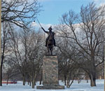 Color photo of General Thaddeus Kosciuszko in Kosciuszko Park on Lincoln Avenue in Milwaukee's Old South Side neighborhood.