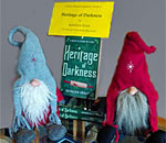 Photo of Heritage of Darkness book display at Vesterheim Museum store.