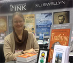 Bestselling author Kathleen Ernst signing copies of her fifth Chloe Ellefson mystery, Tradition of Deceit, in the Midnight Ink Booth on 01 February 2015 at the American Library Association (ALA) Mid-Winter Meeting in Chicago, IL.