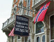 Photo of front entrance of Vesterheim Norwegian-American Museum in Decorah, Iowa.
