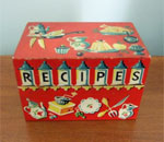 Author Kathleen Ernst's recipe box.