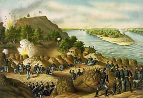 Union Entrenchments Facing Confederate Defenses at Vicksburg