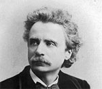 Photo of Norwegian composer Edvard Grieg, taken in 1888 and published 1889 in The Leisure Hour.