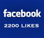 Graphic saying 2,200 Facebook Likes.