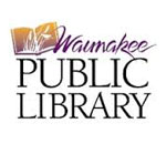 Logo of the Waunakee Wisconsin Public Library.