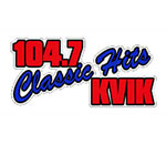 Logo of KVIK FM radio in Decorah, Iowa.