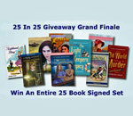Advertisement for the Kathleen Ernst 25 Books In 25 Weeks Giveaway.