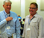 Photo of authors Dr. John E. Miller and William Anderson taken at the LauraPalooza 2015 conference where they each gave presentations.