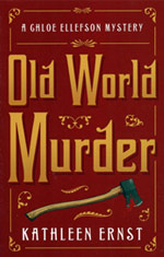 "Cover image of ""Old World Murder"" written by Kathleen Ernst, published by Midnight Ink Books."