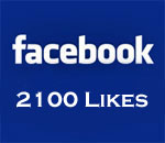 Facebook 2100 Likes graphic