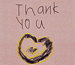 hand-drawn thank you heart