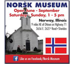 Logo of the Norsk Museum of Sheridan Illinois.