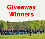 A Memory of Muskets Gratitude Giveaway Winners graphic by Scott Meeker.