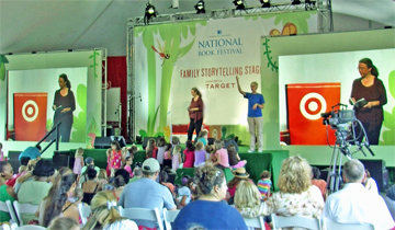 Kathleen Ernst speaking about Caroline Abbott at the 2012 Library of Congress National Book Festival in Washington DC