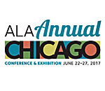 Logo of the 2017 American Library Association (ALA) annual convention in Chicago, Illinois.