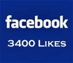 Facebook 3400 Likes graphic.
