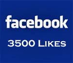 3500 Facebook Likes graphic.
