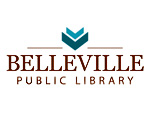 Logo of the Belleville Public Library in Belleville Wisconsin.