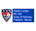 Skjold Lodge Sons of Norway logo.