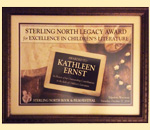 2018 Sterling North Legacy Award for Excellence in Children's Literature given to bestselling author Kathleen Ernst.