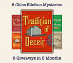 8 Chloe Ellefson Mysteries Giveaway graphic.