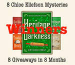 8 Chloe Ellefson Mysteries Giveaway - Heritage Of Darkness Winners graphic.