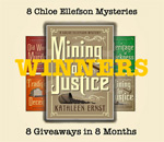 Chloe Ellefson Mining For Justice mystery giveaway winners graphic