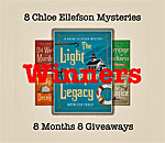 8 Chloe Ellefson Mysteries 8 Months 8 Giveaway March 2018 Winners graphic.