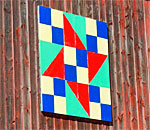 Color photo of a 'barn quilt' taken by author Kathleen Ernst.