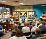 Photo of small part of the crowd that came to hear Kathleen Ernst at Books & Company.