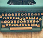 Photo of a typewriter on the Council for Wisconsin Writers website.