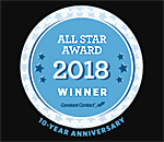 2018 Constant Contact Email All Star Award logo.