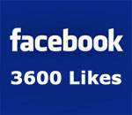 Facebook 3600 Likes graphic.