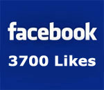 Facebook page 3700 Likes graphic.