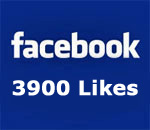 Facebook 3900 Likes graphic.