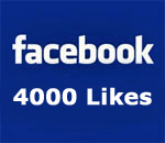 Facebook 4,000 Likes graphic.