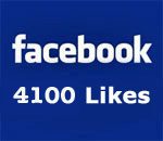 Facebook page 4100 Likes graphic created by Deep Vee Productions.
