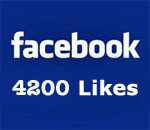 Facebook 4200 Likes graphic.