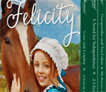 Partial front cover of the American Girl Felicity 3-Book Boxed Set.