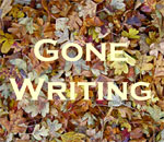 Gone Writing fall leaves graphic by Scott Meeker.
