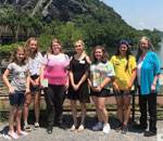 Photo of aspiring writers in aauthor Kathleen Ernst's writing class at Harpers Ferry West Virginia 26 June 2019.
