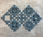 Sample of Norwegian Hardanger embroidery created by Kathleen Ernst.